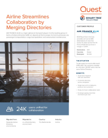 Marjor airline streamlines collaboration by merging directories