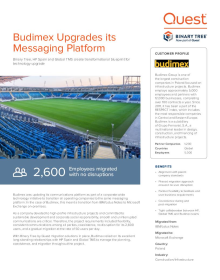 Budimex Migrates from Notes to Exchange