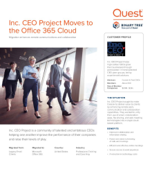 Inc. CEO Project Moves to Office 365 to enhance communications on a single, cloud platform