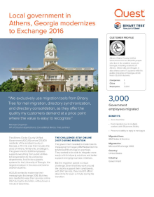 Local Government Modernizes to Exchange 2016