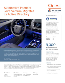 Joint venture automotive interior company chooses Binary Tree for its AD migration